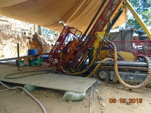 DRILLING HOLES. Australian mining giant Oceana Gold started its drilling exploration in Sitio Catmag, Didipio, Kasibu Nueva Vizcaya as its plan to expand its open pit mining operations despite peoples protest. Photo taken by a resident.