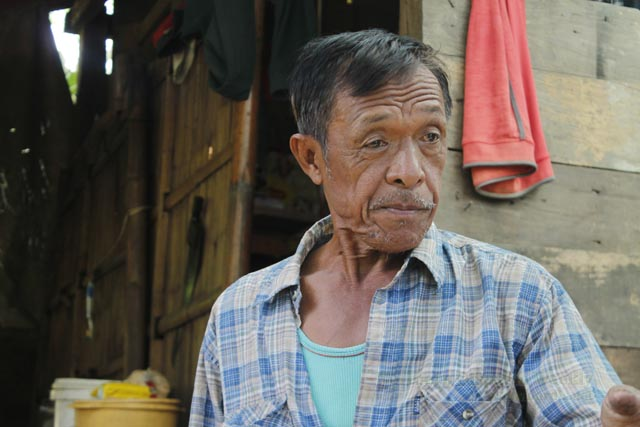 Ama Bansilan Sawadan, an elder of the Binongan tribe, said that the mere sight of army troopers in their villages already instills fear among the community folk because of the human rights violations soldiers have committed.  Photo by Divine Loraine Peñaflor